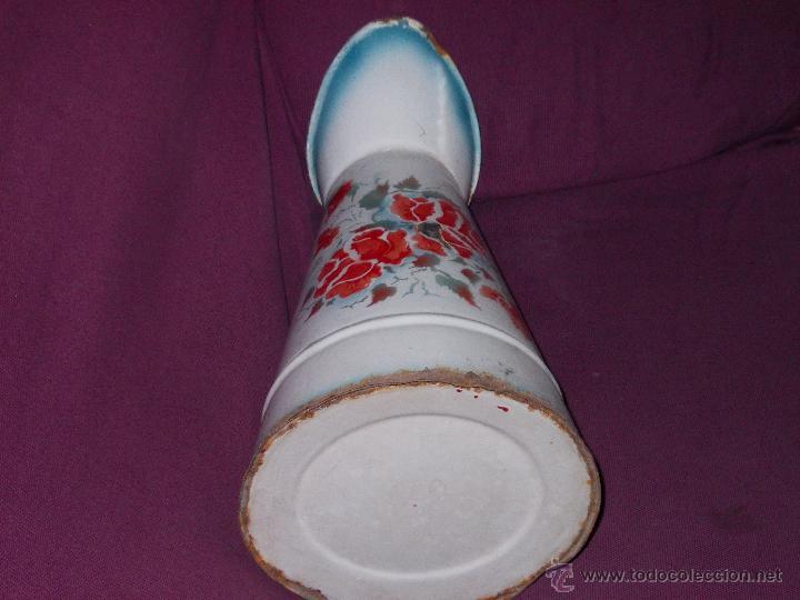 Antigüedades: jarra esmaltada con flores - Foto 7 - 45230982