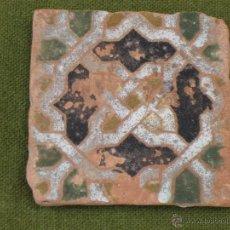 Antigüedades: AZULEJO ANTIGUO DE TOLEDO - TECNICA DE ARISTA - LACERIA MUDEJAR. SIGLO XVI.. Lote 45231551