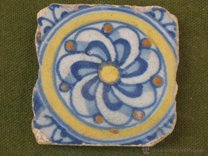 AZULEJO ANTIGUO DE TALAVERA / TOLEDO. TECNICA LISA - RENACIMIENTO - SIGLO XVI. (Antigüedades - Porcelanas y Cerámicas - Talavera)