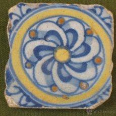 Antigüedades: AZULEJO ANTIGUO DE TALAVERA / TOLEDO. TECNICA LISA - RENACIMIENTO - SIGLO XVI.. Lote 45231765