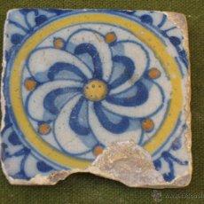 Antigüedades: AZULEJO ANTIGUO DE TALAVERA / TOLEDO. TECNICA PINTADA LISA. RENACIMIENTO. SIGLO XVI.. Lote 45237992