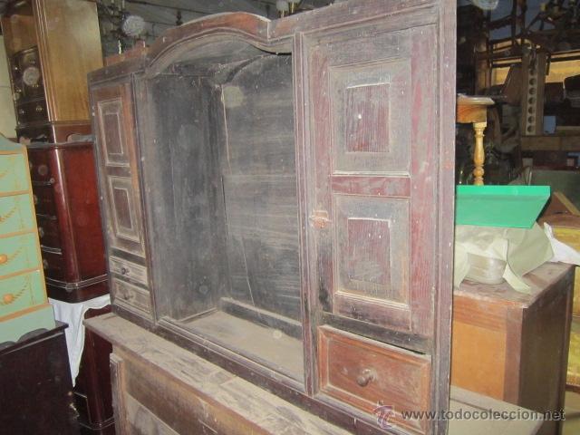 Aparador Preto Laca ~ aparador rústico en madera maciza procedente de Comprar Aparadores Antiguos en todocoleccion