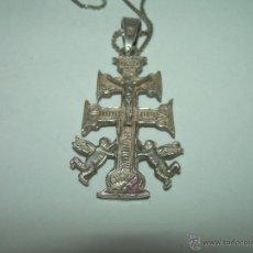 Antigüedades: PRECIOSA CRUZ DE CARAVACA DE PLATA CON CONTRASTES....PERFECTO ESTADO DE CONSERVACION.. Lote 45239616