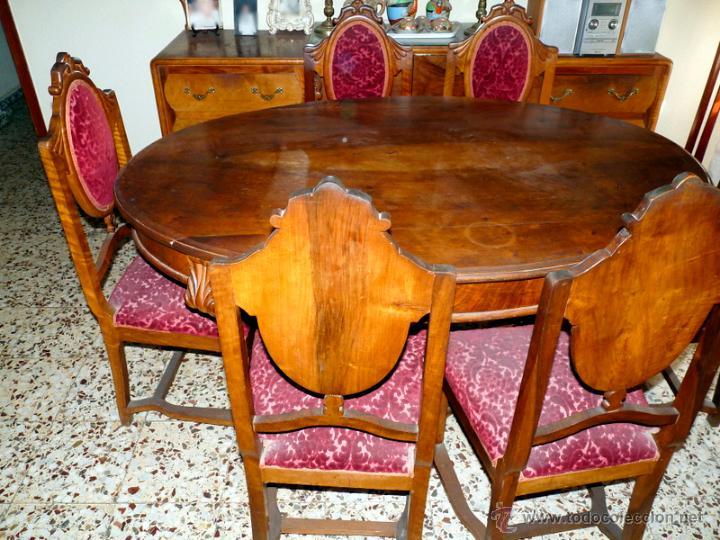 Armario Esquinero Ikea Pax ~ comedor antiguo mesa, 6 sillas y aparador Comprar Aparadores Antiguos en todocoleccion 45243269