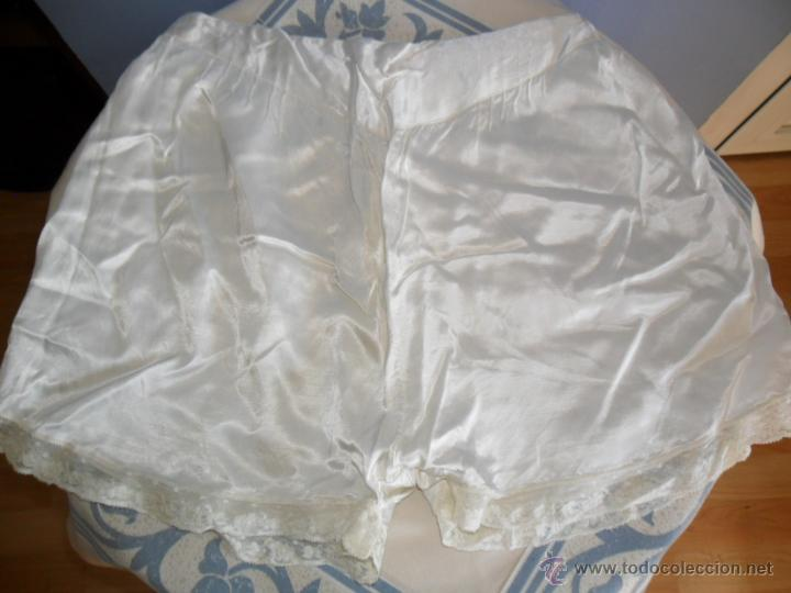 BRAGAS DE RASO CON ENCAJE ANTIGUAS (Antigüedades - Moda y Complementos - Mujer)