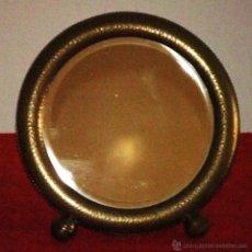 Antigüedades: ESPEJO REDONDO DE SOBREMESA MODERNISTA. Lote 45246422