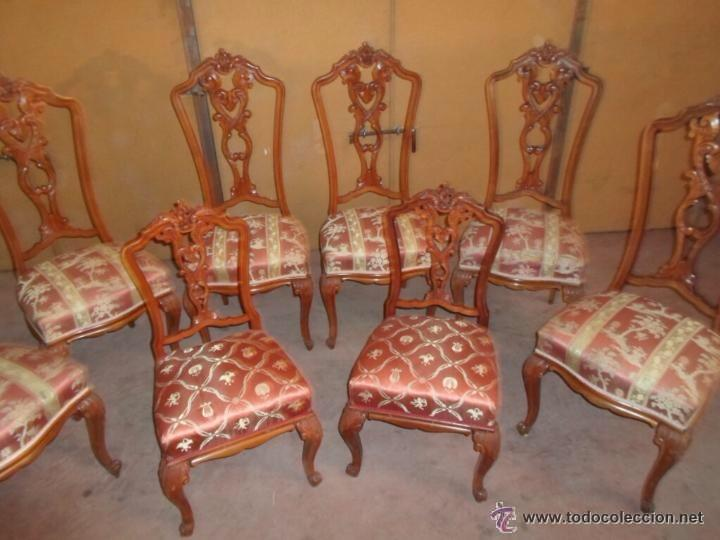 soberbio comedor de sillas de época jacobina ta - Comprar Sillas ...