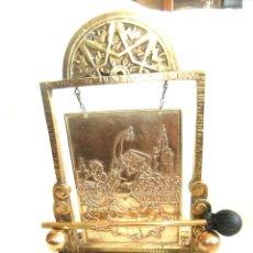 Antigüedades: ANTIGUO RARO MAGNIFICO GONG BRONCE ANDALUZ BAILAORAS SEVILLANAS 35 CM. X 22 P.V.P. 143 EUROS. Lote 45255932