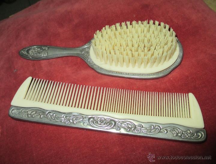 Antiguo conjunto de peine y cepillo de tocador comprar for Espejo y cepillo antiguo