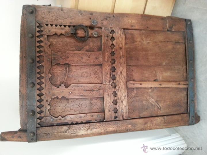 Antigüedades: PUERTA ANTIGUA, ORIGEN MAURITANIA, ELEGANTE Y DECORATIVA - Foto 2 - 45258560