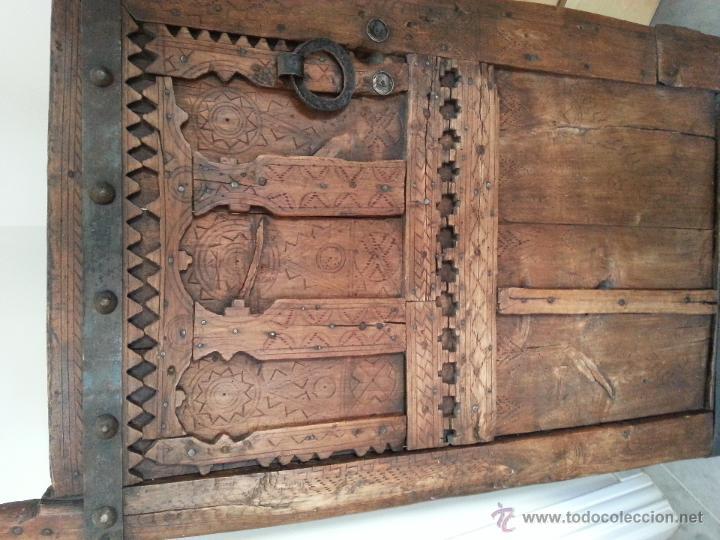 Antigüedades: PUERTA ANTIGUA, ORIGEN MAURITANIA, ELEGANTE Y DECORATIVA - Foto 3 - 45258560