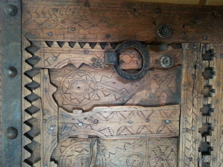 Antigüedades: PUERTA ANTIGUA, ORIGEN MAURITANIA, ELEGANTE Y DECORATIVA - Foto 4 - 45258560
