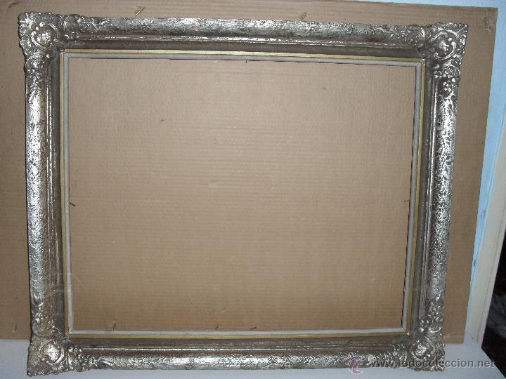 Marco plateado para pintura o espejo fin sxix p comprar marcos antiguos de cuadros en - Espejos marco plateado ...