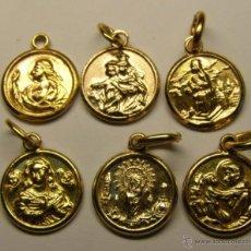 Antigüedades: LOTE DE 6 MEDALLAS RELIGIOSAS.. Lote 45261023