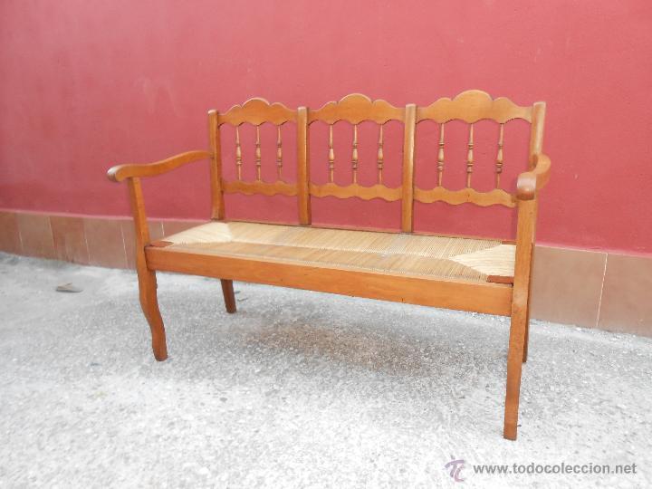 Antiguo banco de madera y comprar sillones antiguos en todocoleccion 45263096 - Sillones antiguos restaurados ...