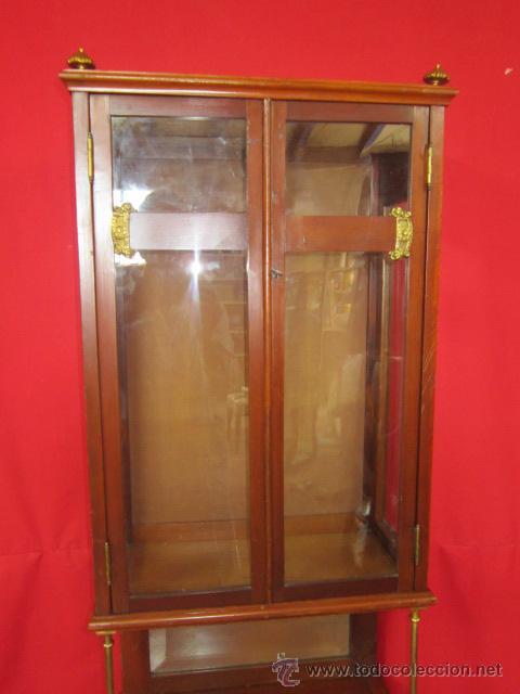 Antigüedades: Importante oratorio o mueble vitrina estilo imperio en madera de caoba. - Foto 4 - 45267516