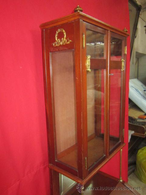 Antigüedades: Importante oratorio o mueble vitrina estilo imperio en madera de caoba. - Foto 5 - 45267516