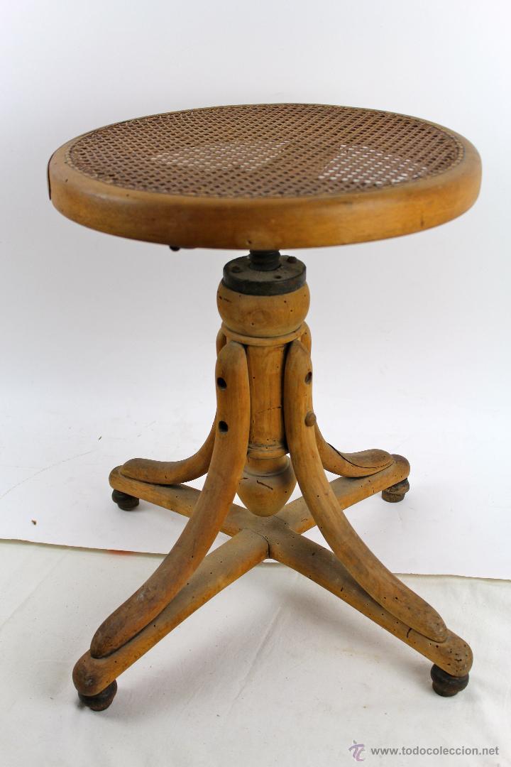 Taburete en madera estilo thonet de principios comprar - Taburete madera regulable ...
