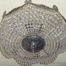 Antigüedades: ANTIGUA LAMPARA DE CRISTAL ROCA. . Lote 45314417