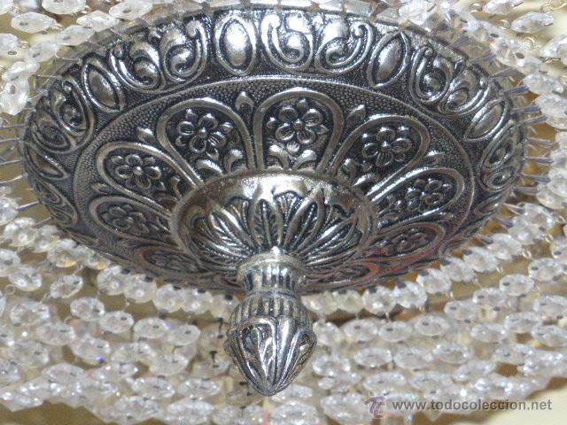 Antigüedades: ANTIGUA LAMPARA DE CRISTAL ROCA. - Foto 2 - 45314417