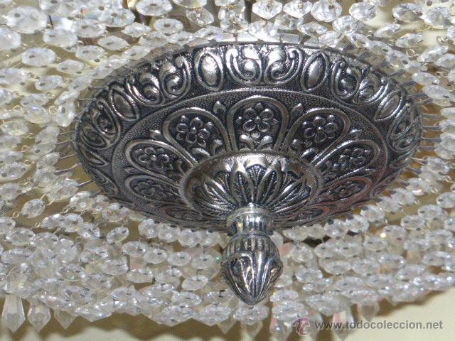 Antigüedades: ANTIGUA LAMPARA DE CRISTAL ROCA. - Foto 3 - 45314417