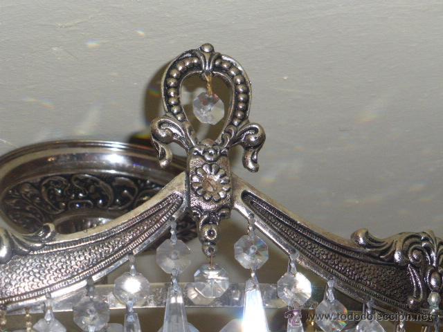 Antigüedades: ANTIGUA LAMPARA DE CRISTAL ROCA. - Foto 8 - 45314417
