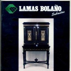 Antigüedades: CATALOGO SUBASTA JOYAS, MUEBLES Y OBJETOS - LAMAS BOLAÑO 1998. Lote 45319010