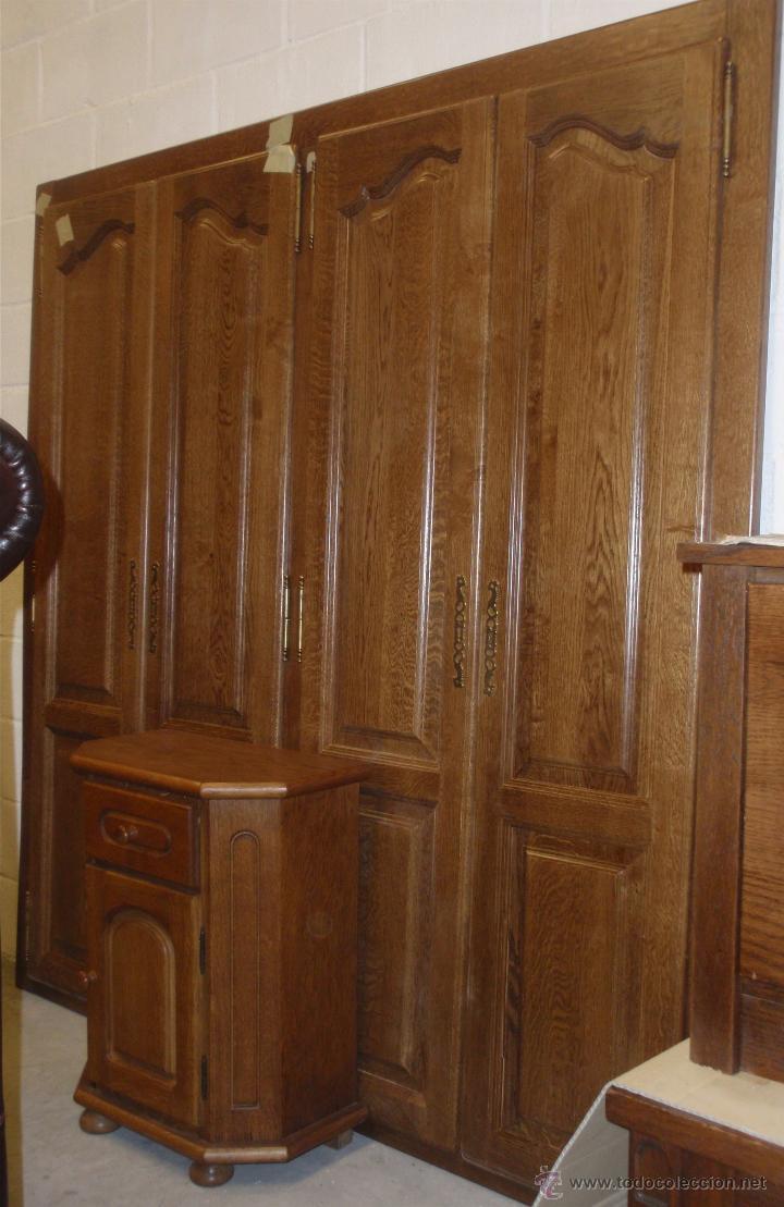 Mueble frente de armario en madera de roble 100 comprar for Muebles de roble antiguos