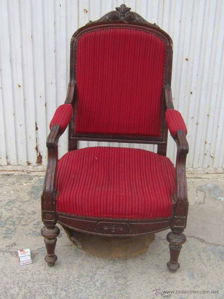 Sillon en madera para restaurar comprar sillones antiguos en todocoleccion 45324775 - Sillones antiguos para restaurar ...