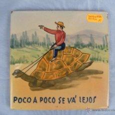 Antiguidades: ANTIGUO AZULEJO PINTADO A MANO CON REFRÁN. Lote 45326592