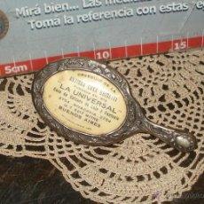 Antigüedades: DELICADO ESPEJO DAMA ART NOVEAU PARA CARTERA AÑO 30 FEIT & OLIVARI PARIS BUENOS AIRES 10CM. Lote 45330882