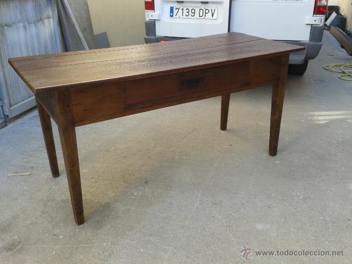 Antigua mesa gallega en madera de casta o con c comprar for Madera de castano