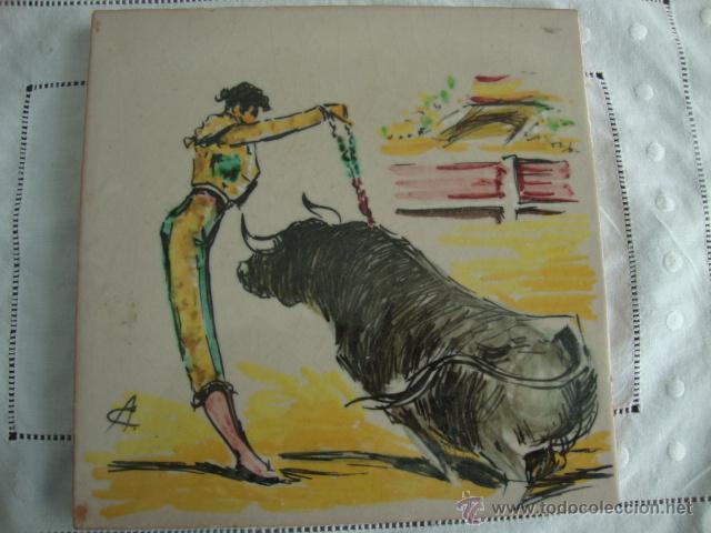 AZULEJOS RAMOS REJANO TOREO (Antigüedades - Porcelanas y Cerámicas - Azulejos)