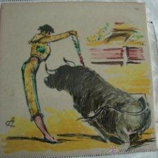 Antigüedades: AZULEJOS RAMOS REJANO TOREO. Lote 45334043