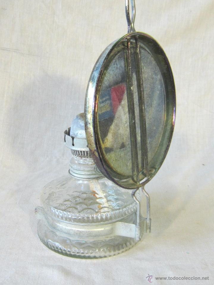 Antigüedades: quinque de pared en cristal - Foto 2 - 45337505