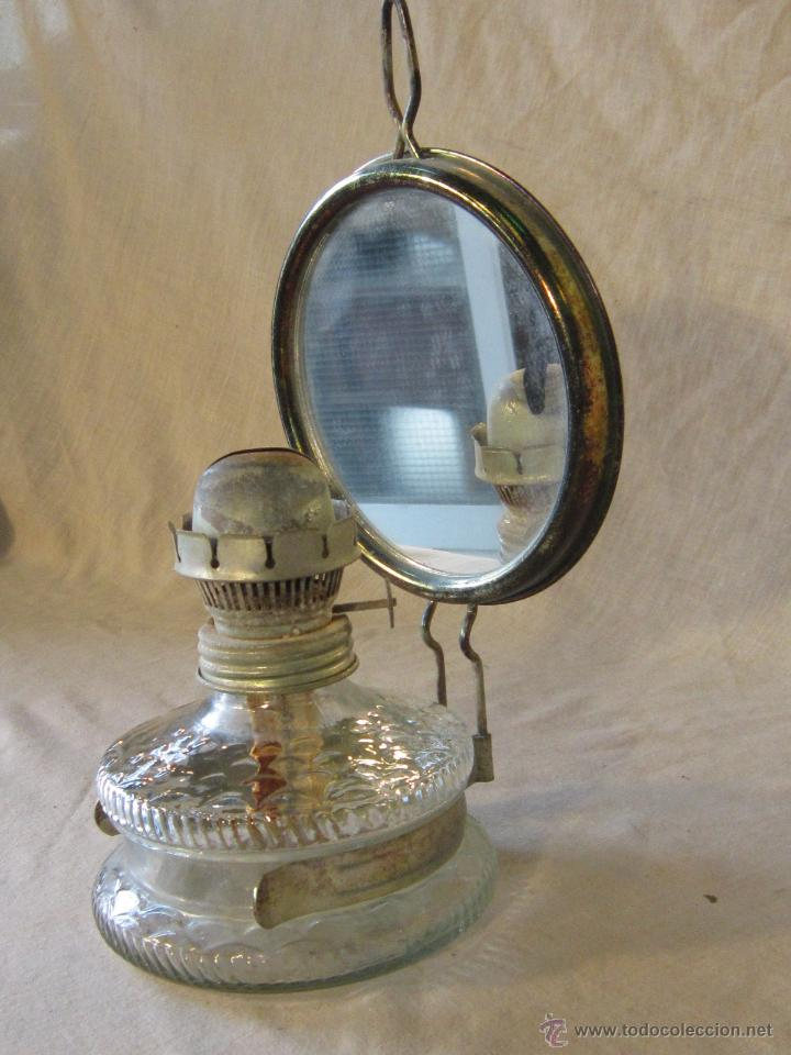 Antigüedades: quinque de pared en cristal - Foto 3 - 45337505
