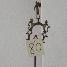 Antigüedades: CANDELABRO CON PANTALLA SIGLO XIX-80. Lote 43446788