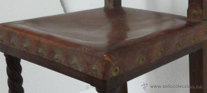 Antigüedades: SILLAS SEIS DE ESTILO CASTELLANO SIGLO XIX-83 - Foto 3 - 43448458