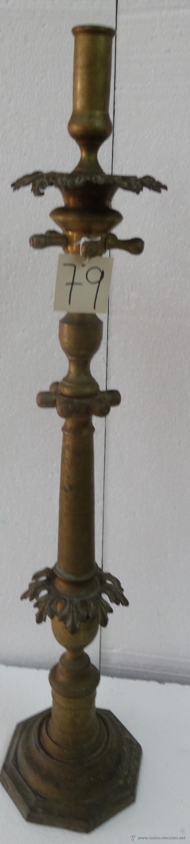 Antigüedades: CANDELABRO DE PIE SIGLO XIX-79 - Foto 2 - 43449594