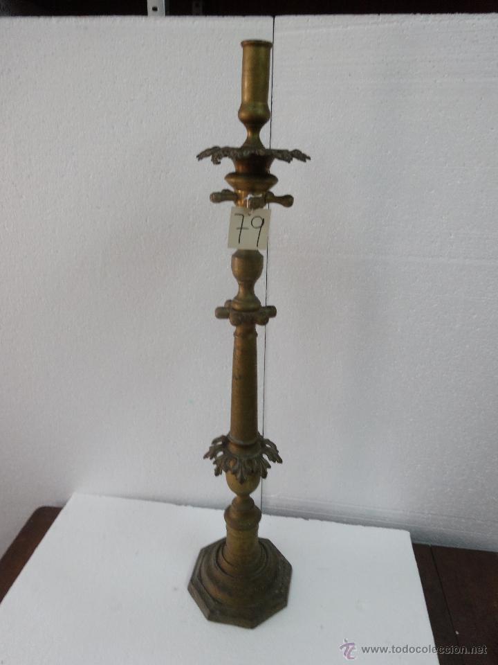 Antigüedades: CANDELABRO DE PIE SIGLO XIX-79 - Foto 3 - 43449594