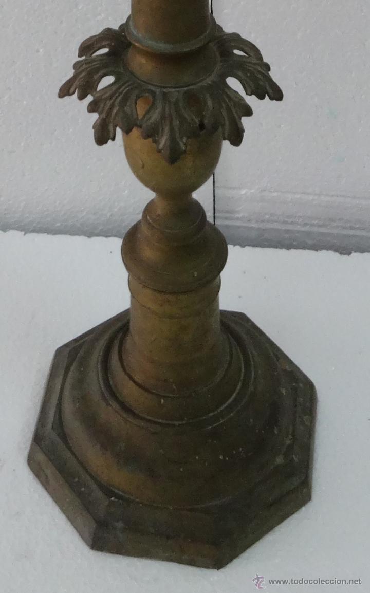 Antigüedades: CANDELABRO DE PIE SIGLO XIX-79 - Foto 4 - 43449594