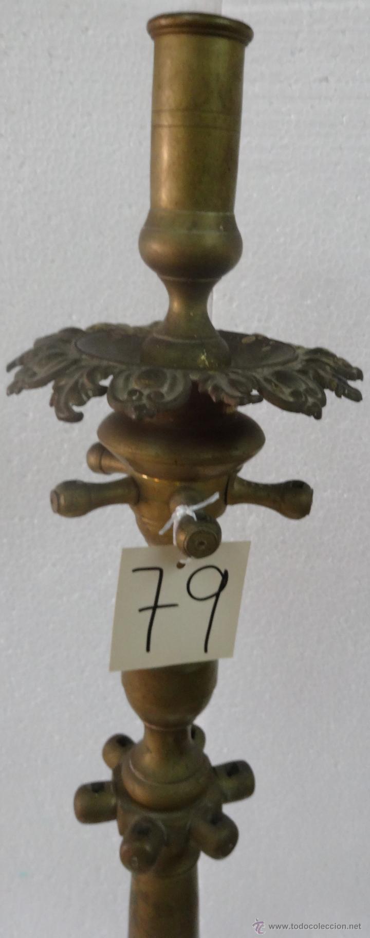 Antigüedades: CANDELABRO DE PIE SIGLO XIX-79 - Foto 6 - 43449594