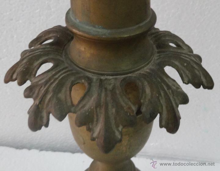 Antigüedades: CANDELABRO DE PIE SIGLO XIX-79 - Foto 7 - 43449594