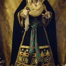 Antigüedades: PRECIOSO FAGIN FAJIN VIRGEN HEBERA DE VESTIR, TAMAÑO 267 MAS 22 DE FLECOS POR PATA X 9 . Lote 45353155
