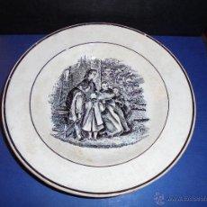 Antigüedades: ANTIGUO PLATO DE LA FABRICA LA AMISTAD DE CARTAGENA PARTE POSTERIOR SELLO IMPRE. Lote 45355265