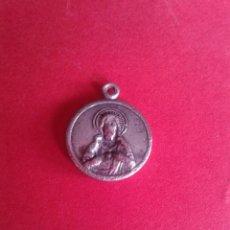Antigüedades: ANTIGUA MEDALLA DEL SAGRADO CORAZÓN DE JESÚS. PLATA. 1 GRAMO.. Lote 45355421
