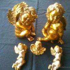 Antigüedades: PRECIOSA COLECCION ANGELES DISTINTOS TAMAÑOS. Lote 45366219