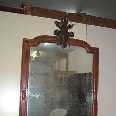 Antigüedades: ESPEJO ISABELINO DE CAOBA, SIGLO XIX. RESTAURADO. Lote 45368189