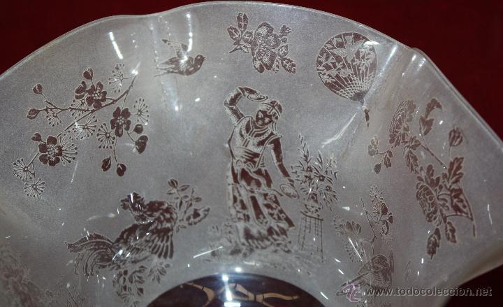Antigüedades: SENSACIONAL TULIPA EN CRISTAL GLASEADO Y DECORACIONES ORIENTALES. CIRCA 1900 - Foto 5 - 45374906