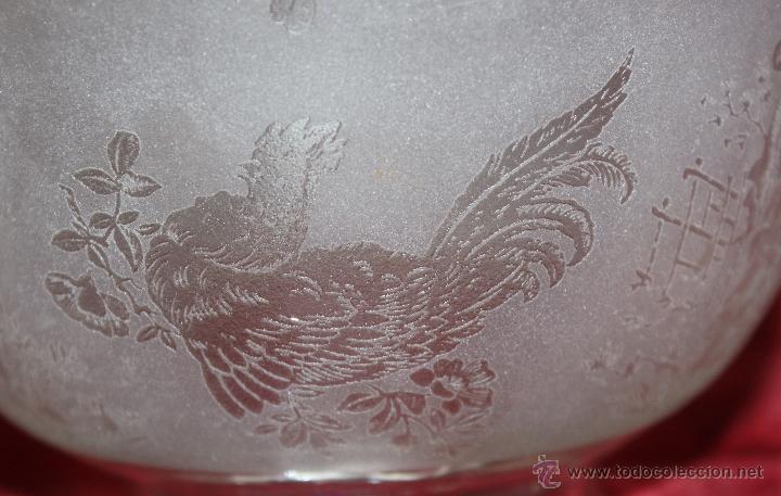 Antigüedades: SENSACIONAL TULIPA EN CRISTAL GLASEADO Y DECORACIONES ORIENTALES. CIRCA 1900 - Foto 7 - 45374906